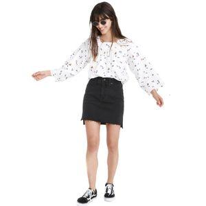 NWT Madewell Stretch Denim Straight Mini Skirt 27